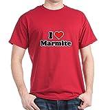 CafePress I love marmite Dark T-Shirt