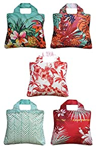 Envirosax Tropics Reusable Shopping Bags 5-pack