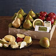 Deluxe Pears, Apples, and Cheese Gift…