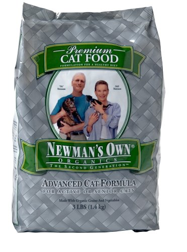 Image of Newman's Own Organics Advanced Cat Dry Formula, 3-Pound Bags (Pack of 2)