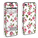 Apple iPhone 4 or 4s Full Body Decal Vinyl Skin - White Rose Garden By SkinGuardz