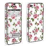 Apple iPhone 4 or 4s Full Body Decal Vinyl Skin - White Rose Garden By SkinGuardz