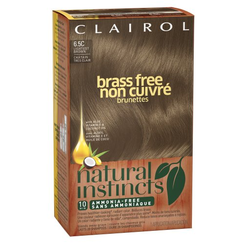 Clairol Natural Instincts Brass Free 6.5C Lightest Brown 1 Kit (Pack Of 3) (Packaging May Vary) front-649311