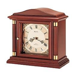 Bulova B1843 Bramley Clock, Walnut Finish