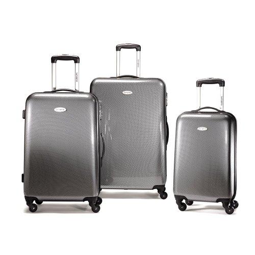 Samsonite Winfield Fashion 3 Piece Nest Luggage, Check Black/Silver, One Size B0044830P6