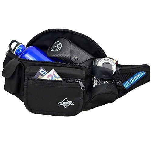 HERBST-AKTION-Bauchtasche-mit-7-Fchern-schwarz-Groe-Grteltasche-fr-Damen-Herren-Ideal-als-Kameratasche-oder-Trekking-Tasche-fr-Outdoor-Abenteuer-von-Globeproof