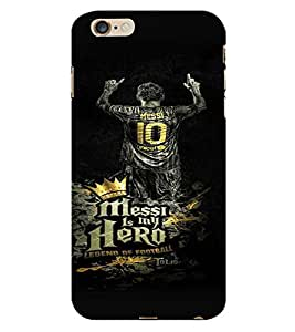 PrintVisa Messi Hero Football 3D Hard Polycarbonate Designer Back Case Cover for Apple iPhone 6 Plus