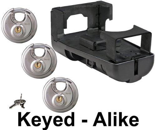 Master Lock - Gooseneck Coupler Trailer Lock w/ 3 Padlocks Keyed Alike - 4KA-2989-40 (Fifth Wheel Lock Master compare prices)