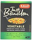 Kallo Organic Just Bouillon 6 Premium Vegetable Stock Cubes 66 g (Pack of 15)