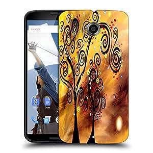 Snoogg Black Tree Designer Protective Back Case Cover For MOTOROLA NEXUS 6