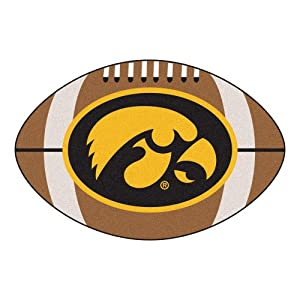 "Fanmats Sports Team Logo Iowa Football Rug 22""x35"""