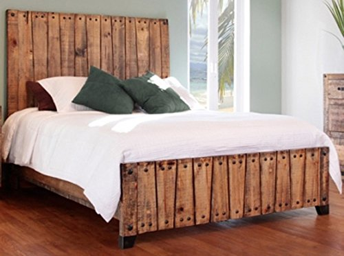 Video review rustic elliot king bed real high quality for Western style beds