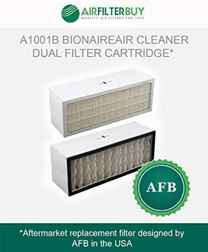 A1001B Bionaire Air Cleaner Dual Filter Cartridge. Fits models LC1060 & LE1160. AFB HEPA - Designed by AFB in the USA.