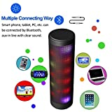 LUOOV LED Portable Wireless Light up Bluetooth Speaker with 6 Pulse Colorful Light Built-in Mic Handsfree Function