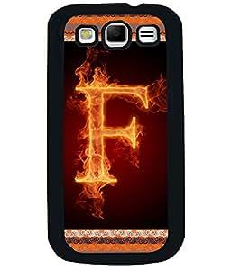Fuson 2D Printed Alphabet F Designer back case cover for Samsung Galaxy S3 Neo - D4195
