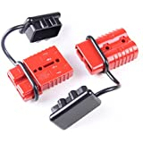 2-4 Gauge Driver Battery Quick Connect Plug Kit Recovery Winch Trailer 350 amps