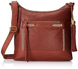 Lucky Brand Karma Cross Body Bag,Brandy,One Size