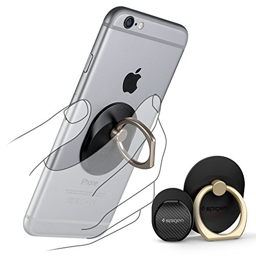 Spigen スマホ リング, スタイルリング [ 落下防止 + スタンド機能 + 車載ホルダー ] iPhone6s / iPhone6s Plus / iPhone 6 / Galaxy / Xperia Z5 Z4 / Nexus 5X / スマートフォン・タブレット 対応 ケース 使用可能 ( Style Ring ゴールド SGP11676)