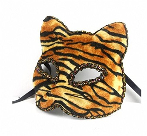 Beautifully Broadway Cat Face Mask Tiger Party Mask By U-beauty