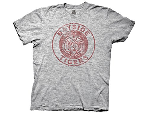 Ripple Junction Men'S Saved By The Bell Bayside Tigers T-Shirt S Heather Gray