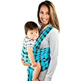 Now Born Baby Wrap Sling With Blue Polka Dot Pattern -100% Cotton Safe & Comfortable Quality Material