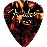 Fender 351 Classic Celluloid Guitar Picks 12-Pack - Shell - Heavy