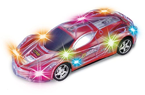 Haktoys Light Up RC Car for Kids, Boys & Girls with Spectacular Flashing LED Lights (Light Up Remote Control Car compare prices)