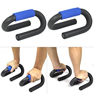 Accessotech 2 x Push Up Bars Stand Pull Press Bar Foam Handle Home Exercise Pushup 4 Chest Arms