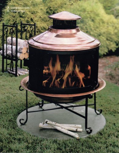 Unique-Arts-Solid-Copper-New-Chiminea-Combo-With-Screen