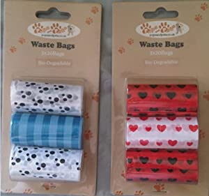 Wholesale 12 packs of 60 Bio-Degradable Dog Waste Bags