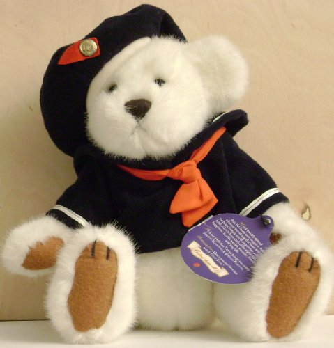 Taylor the Sailor Brass Button Bear Plush Stuffed Animal - Limited Edition - Tag is bent