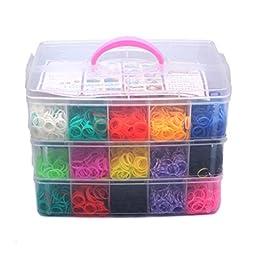 WINOMO Colorful Rubber Loom Bands Box Set - 7500pcs