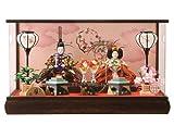 雛人形 ひな人形 雛 狭山清玉 ケース飾り 親王飾り 本焼桐 アクリルケース オルゴール付 h263-sg-7-23