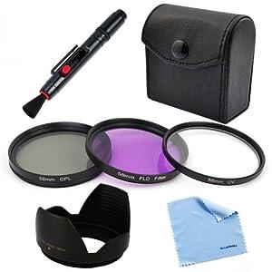 BIRUGEAR 58mm Lens Accessory Bundle Kit for Nikon D7000, D5200, D5100, D3200, D3100, D3000; Canon Digital EOS 1200D, 1100D, 70D, 700D, 650D, 600D, 550D, 500D, 100D, 60D, 60Da, 6D Digital SLR Cameras or Canon 18-55mm, 75-300mm, 50mm 1.4 , 55-200mm Lenses
