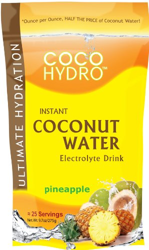 Big Tree Farms CocoHydro Instant Coconut Water, Pineapple 9.7oz pack