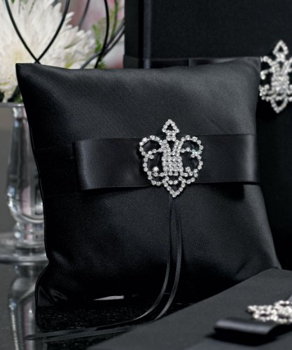 Weddingstar-Beverly-Clark-The-Crowned-Jewel-Collection-Ring-Pillow-Black