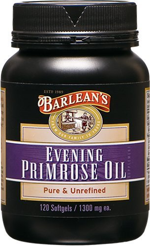 Barlean's Living Oils Organic Evening Primrose Oil, 120 softgels/1300 mg ea. Bottle