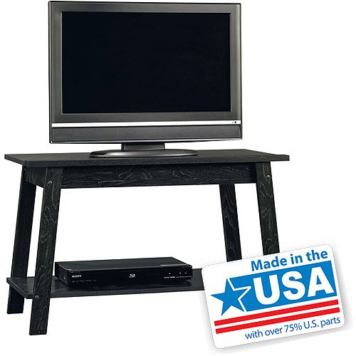 """TV Stand, for TVs up to 37"""" - 50LBS in Ebony Ash, 15.7"""" x 35.3"""" x 21.8"""""""
