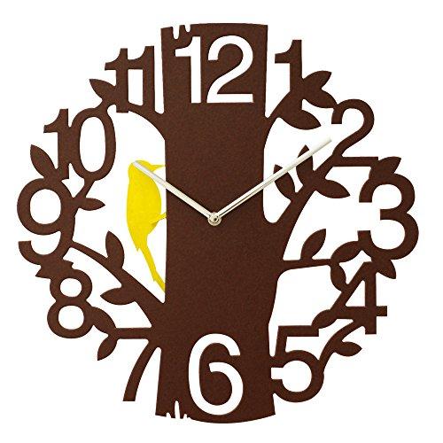 振り子時計 小鳥の時計 壁掛け 振り子 ふりこ 壁掛け時計 小鳥 時計 掛け時計 ウォールクロック ブラウン