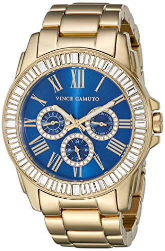 Vince Camuto VC/5158BLGB - Orologio da polso da donna, cinturino in acciaio inox colore oro