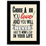 TIED RIBBONS® Inspirational Wall Posters For House With Frame