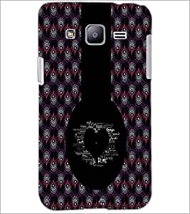 PrintDhaba Typographic Heart D-2956 Back Case Cover for SAMSUNG GALAXY J2 (Multi-Coloured)