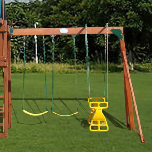 Swing Town Swing Town Belt Swing, Yellow/Green, Plastic (Chain)