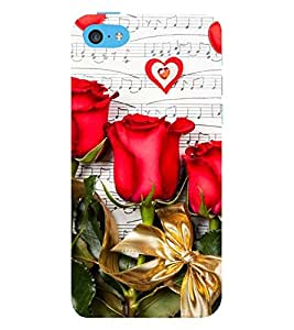 Vizagbeats Red Rose Flowers Back Case Cover for Apple iPhone 5::Apple iPhone 5S