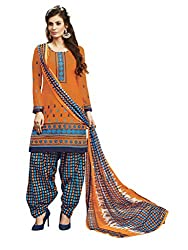 Women Icon Presents Orange Embroidered Un-Stitched Dress Material WICKFRPCO15011