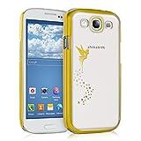kwmobile Custodia rigida Disegno fata per Samsung Galaxy S3 i9300 / S3 Neo i9301 in Oro Trasparente