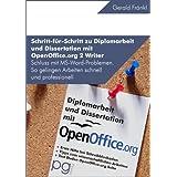 """Wissenschaftliche Arbeiten: Schritt f�r Schritt zu Diplomarbeit und Dissertation mit OpenOffice.org 2 Writervon """"Gerald Fr�nkl"""""""