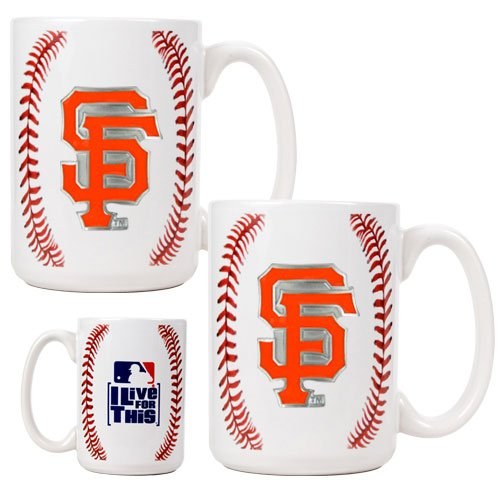 San Francisco Giants - MLB 2 Piece GameBall Ceramic Mug Set (Primary Logo) (Sf Giants Coffee Mug Set compare prices)