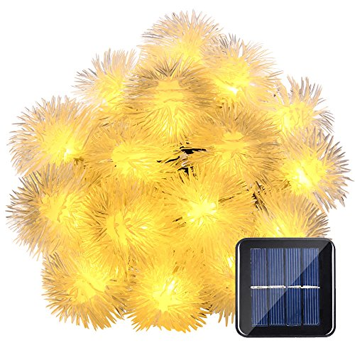 LUCKLED Outdoor Solar Christmas Lights, 23ft 50 LED Fairy Chuzzle Ball String Lights Decorative Lighting for Indoor, Garden, Home, Patio, Lawn, Party and Holiday Decorations (Warm White) (Little Windows Brilliant Resin compare prices)
