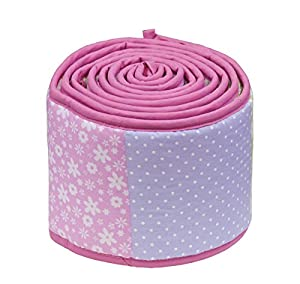 Dream On Me 3 Piece Set Reversible Portable Crib Bedding Set, Spring Time
